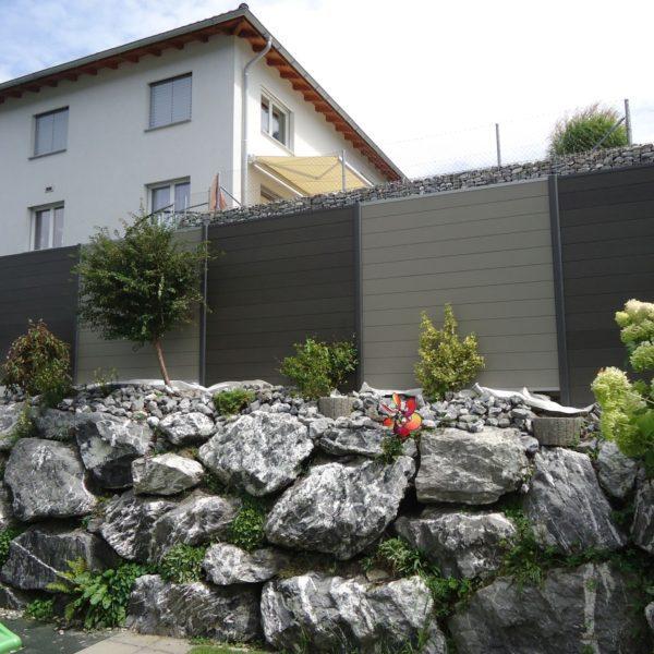 Sichtschutz Aus Holz/Kunststoff-Verbund