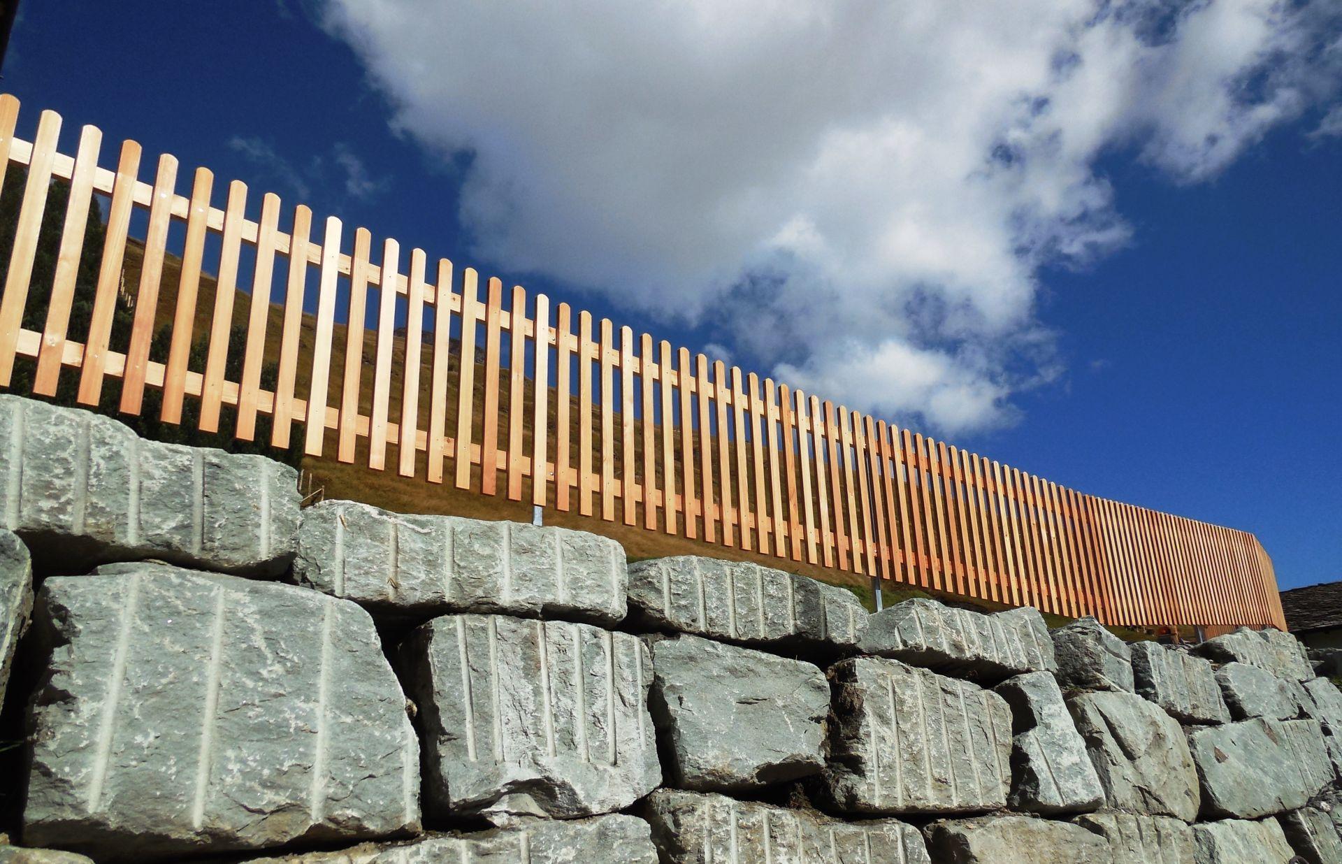 Staketenzaun Holz