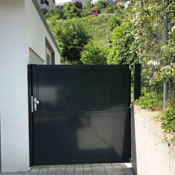 Aluminium Sichtschutztüre