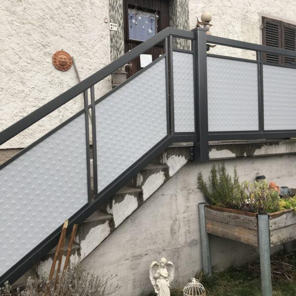 Geländer Brix ALU Perforée
