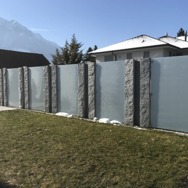 Sichtschutz Granit Mit Glas