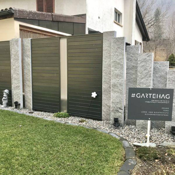 Sichtschutz Mit Granitstrehlen